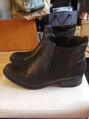 5th Avenue Slip-on Booties black leather