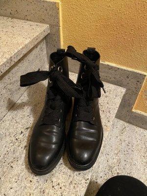 Esprit Bottes à lacets noir