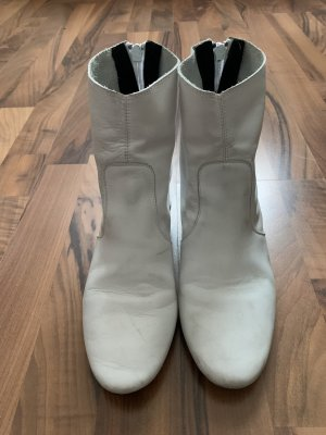 Mango Booties white leather