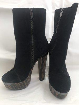 Alisha Bottillons noir cuir
