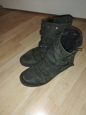 Leder Stiefeletten biker boots 40