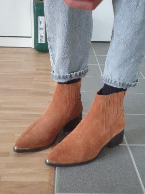 Leder Stiefeletten Cowboy-Stiefeletten
