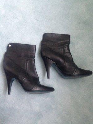 Patrizia Pepe Slip-on Booties black leather