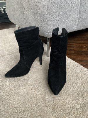 Leder Stiefeletten schwarz Cortefiel
