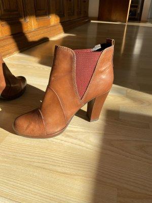 Tamaris Platform Booties brown-cognac-coloured