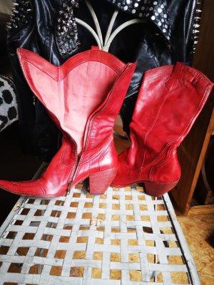 Vero Cuoio Botines estilo vaquero rojo ladrillo