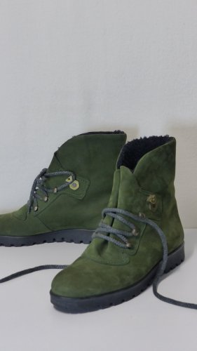 Booties green leather