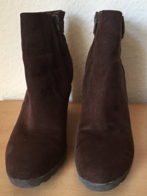 5th Avenue Zipper Booties brown leather