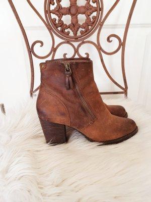 Leder Stiefletten Schuhe Stiefel Cowboy Leder Clarks braun 37,5