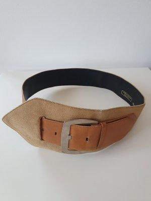 Charles Jourdan Cinturón de lona marrón arena-marrón claro