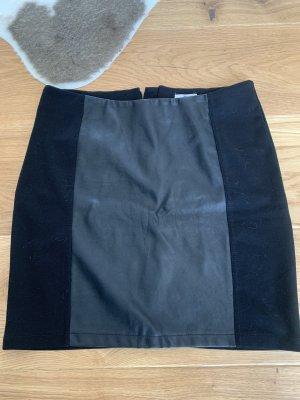 Blue Motion Skórzana spódnica czarny