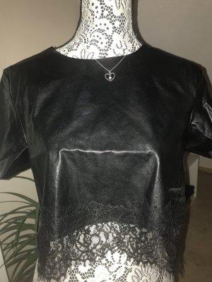 Leder T-Shirt