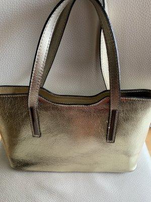Leder Tasche aus Italien in Gold