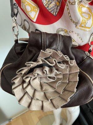 Leder Tasche aus Italien mit Blume