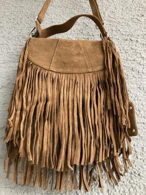 Leder Tasche Buffalo Neu Fransen Fransentasche echtes echt Leder Umhängetasche Handtasche Hippie Boho Bohemian Bohemien NP 99,90 €