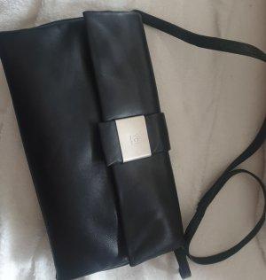 leder Tasche in schwarze