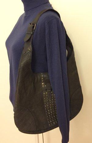 Leder Tasche mit Nieten Saddle Bag Manguun
