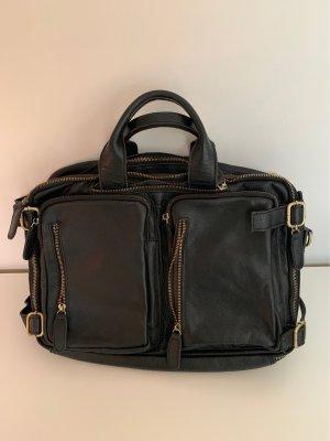 Leder Tasche/Rucksack