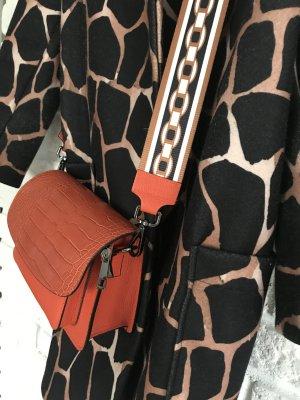 Leder Tasche Umhängetasche Handtasche neu ziegel
