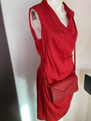 Leder Tasche Umhängetasche in rot