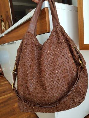 abro Crossbody bag light brown leather
