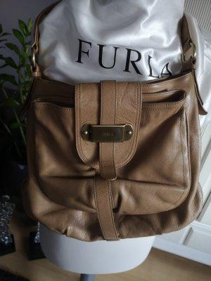 Leder Tasche von Furla beige