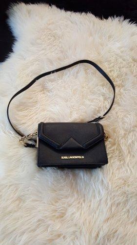 Karl Lagerfeld Mini Bag black-gold-colored leather