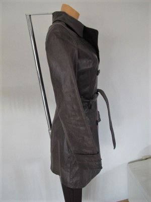 Trench Coat dark brown leather