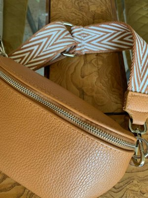 Börse in Pelle Crossbody bag camel leather
