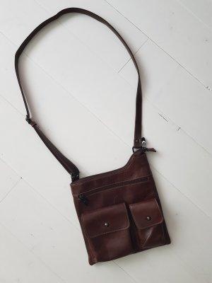 Leder Umhängetasche Crossbody Bag Braun