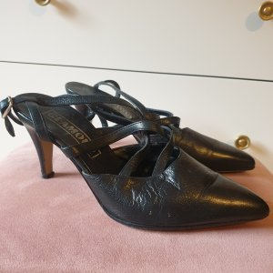 Leder Vintage Sandaletten Sandalen Gr. 37