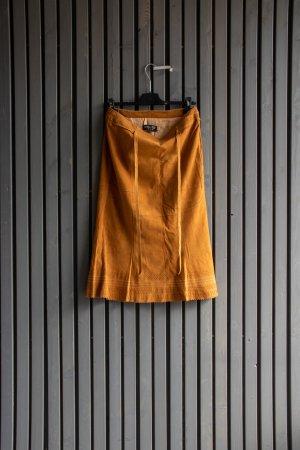 Leder Walter Rozkloszowana spódnica jasnobrązowy Skóra