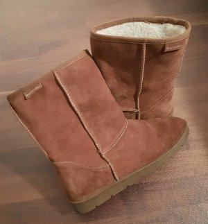 Ankle Boots dark orange leather