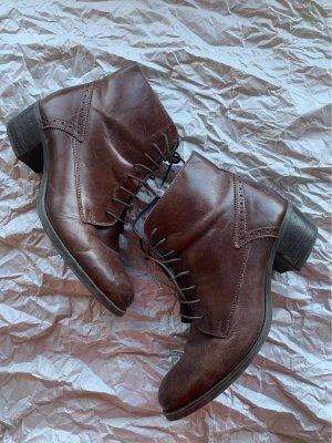 5th Avenue Bottes d'hiver brun noir-brun foncé cuir