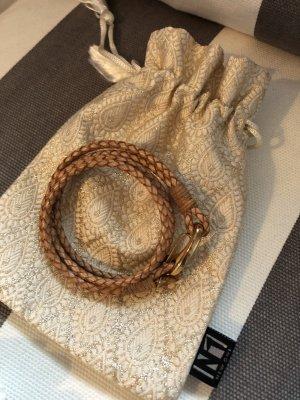 Lederen armband bruin