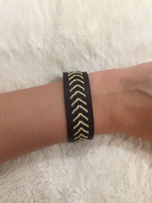 Bracelet en cuir brun noir-crème cuir