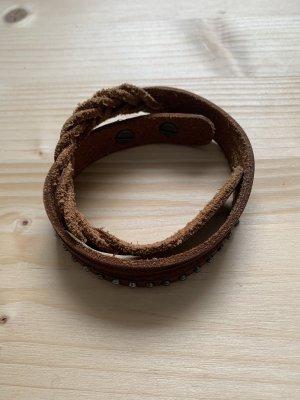 Fredsbruder Leather Bracelet cognac-coloured