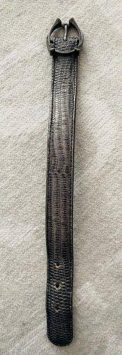 Bottega Veneta Bracelet en cuir gris foncé