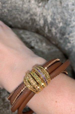 Bracelet doré-brun