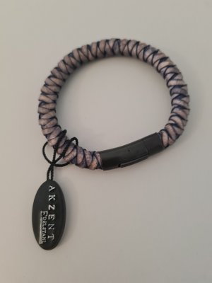 Leather Bracelet black-brown