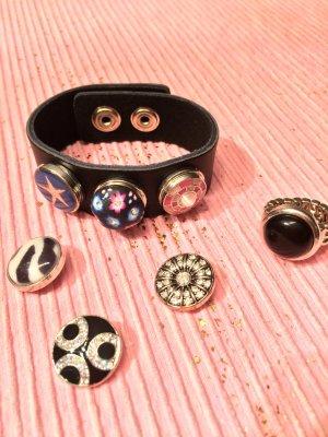 Bracelet en cuir noir cuir