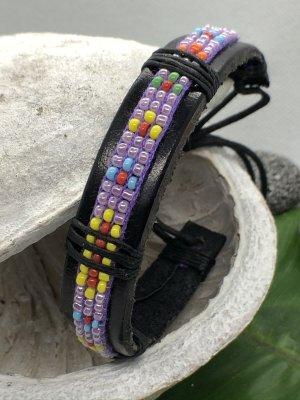Leather Bracelet lilac leather