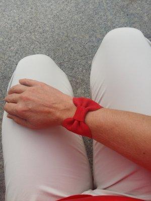 Project OONA Bracelet en cuir rouge-rouge foncé cuir