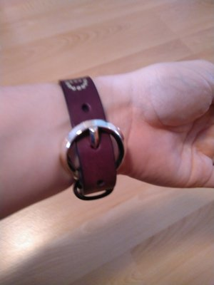 Liebeskind Leather Bracelet dark red