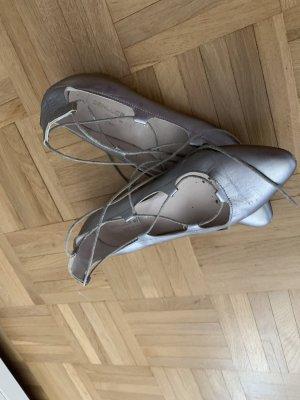 Vero Cuoio Ballerina's met bandjes zilver