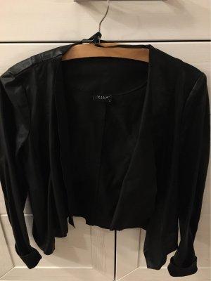 Vila Leren blazer zwart