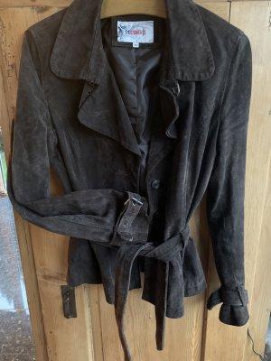 Leather Blazer dark brown