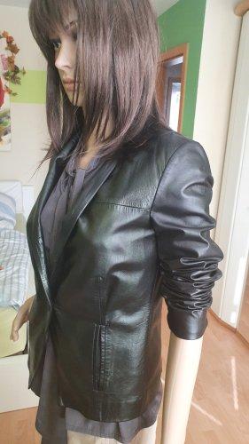 Conleys Black Blazer de cuero negro Cuero