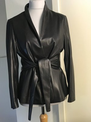 ae elegance Blazer de cuero negro