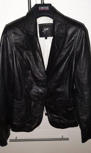Gipsy Blazer de cuero negro